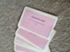 Monopoly. série complète de communauté poitrine cartes. véritable waddingtons pièces