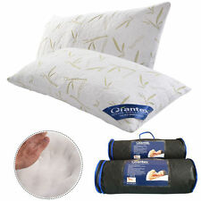 Set of 2 King Size Bamboo Shred Memory Foam Hypoallergenic Pillow With Carry Bag