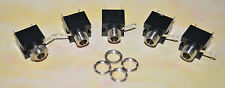 3.5mm MONO JACK SOCKET SWITCHED PANEL/CHASSIS MOUNT PACK OF 5