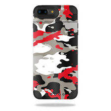 Skin Decal Wrap for Mophie Juice Pack Air iPhone 7 Plus Red Camo