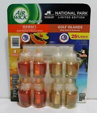 8x AIR WICK Scented Oil National Park Edition HAWAII & GULF ISLANDS 0.84oz (BIG)