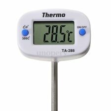 TERMOMETRO DIGITAL COCINA ACERO -50℃-300℃ PARA ALIMENTO COMIDA LIQUIDO SONDA BBQ