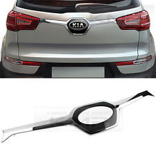 Chrome & Black Rear Trunk Garnish Molding Trim For KIA 2011-2015 2016 Sportage R