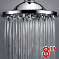 Large 8 Inch Rain Style Shower Head Chrome Finish with Swivel Ball Connection UK