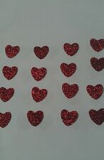 25 red heart Hotfix iron on transfers 12mm x 12mm