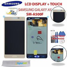DISPLAY LCD + TOUCH SCREEN SCHERMO PER SAMSUNG GALAXY A5 A500 SM-A500FU ORO GOLD