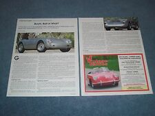 """1955 Porsche 550 1500RS Spyder Info Article """"Boom, Bust or What?"""""""