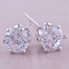 9K White Gold Filled Non Allergic Stud Earrings for Special ❤❤