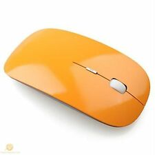 ORANGE Super Slim Optical Wireless Mouse Slimline Mice 2.4G 10m Range 1600 DPI
