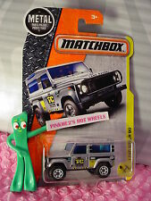 2017 Matchbox #48 LAND ROVER 90☆silver☆TAYLOR CONSTRUCTION☆Case F