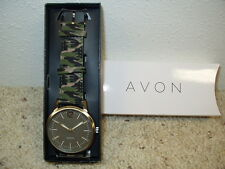 NIB Avon Men's Army Style Watch Camouflage Dated 2014