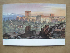 VINTAGE WWII POSTCARD PANORAMIC VIEW OF RUINS BAALBECK SYRIA 1945