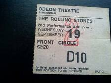 Rolling Stones ticket Birmingham Odeon 19/09/73