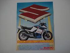 advertising Pubblicità 1984 MOTO SUZUKI GSX 550 EF