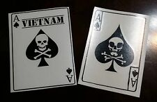 x 2 Vietnam Ace of spades death card vinyl die cut war soldiers decal sticker