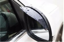 Pair Universal Rear View Black Side Mirror Rain Snow Shield For Car Truck