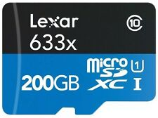 Lexar 200GB 633x High Performance Micro SDXC TF UHS-I U1 Memory Card - 95MB/s