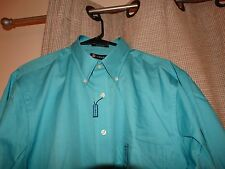 $45 NWT new CHAPS RALPH LAUREN classic fit twill shirt 16 16 1/2 32 33 large
