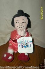 "Disney Store It's a small world Japan Girl Plush 9"" Bean Bag Toy With Tag"
