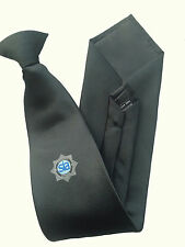 Black Security Clip on Tie With SIA Logo, CCTV, Close Protection, Security