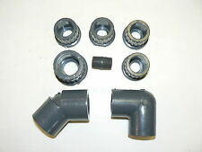 MISC. PVC Pipe Fittings - Elbows/Adapters/Nipple - Lot of 8 Pcs.