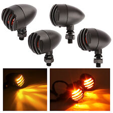 4pcs Heavy Duty Retro Motorcycle Turn Signals Bulb Indicators Blinkers Lights