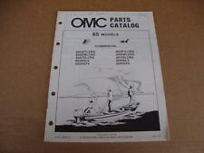 1984 OMC Commercial 65 HP outboard parts catalog Johnson Evinrude 394666