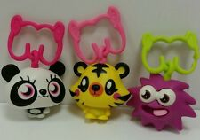Mcdonalds Lot 3 Moshi Monsters Shishi Jeepers iggy Happy Meal toy key chain Clip