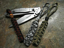 3 PACK OF PARACORD NO CORE KNIFE LANYARD'S W SKULL BEAD AMERICAN MADE