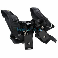 Black Double Shoulder Sling Belt Quick Rapid Strap for DSLR Digital SLR Camera