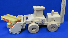 Tonka Solid Wood Front End Loader Vehicle Truck Toy & 2 Tonka Boxes Lot Of 3
