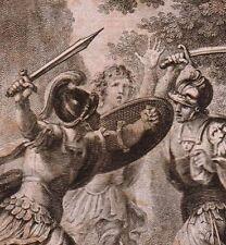 Gravure XVIIIe Combat au Sabre Epée Escrime Fencing 1775