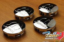 2009 - 2016 Chrysler Dodge Chrome Wheel Tire Mopar Center Caps Set of 4 OEM