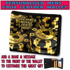 PERSONALISED POKER CHIPS MENS  WALLET DAD GRANDAD CHRISTMAS GIFT ST220