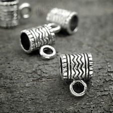 50pcs Tibetan Silver Vintage Antique Tube Bail Bead Connector Links OK HCTS1206