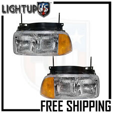 Headlight Headlamp Pair Left right for 95-97 JIMMY 94-97 SONOMA 96-97 BARVADA