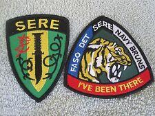 """SERE """"Survival Evasion Resistance Escape"""" Training Patches SERE US NAVY 2pc Set"""