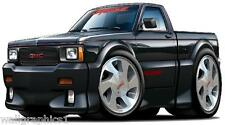 1991 GMC Sanoma Syclone AWD Truck 4.3 Turbo Vintage Wall Graphic Man Cave Decals