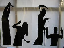 halloween window or wall  silhouettes set of 2 decorations    120cms x 76cms