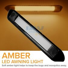 12V LED EXTERIOR AWNING PORCH LIGHT RV TRAILER CARGO BOAT PATIO WALL LAMP AMBER