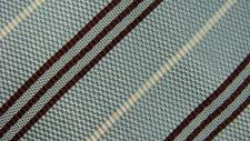 ERMENEGILDO ZEGNA BLUE BROWN SILVER STRIPE COTTON SILK NECKTIE TIE HMA2916A #R30