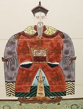 HAND PAINTED JAPANESE EMPEROR WALL TILE PAINTING SIGNED