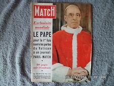PARIS MATCH N°172 28 JUIN 1952 PAPE PIE XII LE VATICAN LE MANNEQUIN PRALIN  H64