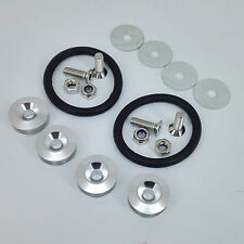 Silver Quick Release Fasteners For Car Bumpers Trunk Fender Hatch Lids Kit