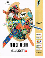 PUBLICITE ADVERTISING 074  1993  SWATCH  montres collection   PART OF THE ART