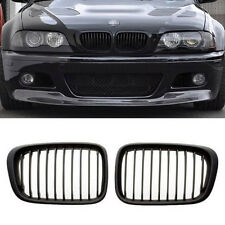 Black Front Grilles Grill For BMW E46 98-01 4D 3 series 320i 323i 325i 328i 330i