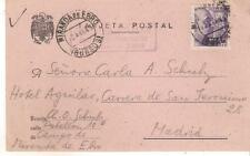 1943 Spain Miranda de Ebro Concentration camp postcard cover CH Schulz England