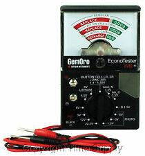 GEMORO WATCH BATTERY TESTER FOR SILVER OXIDE /ALKALINE/ LITHIUM/ ZINC AIR