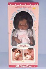 Vintage FISHER PRICE BABY SOFT SOUNDS Doll African American 214 OB UnPlayed With