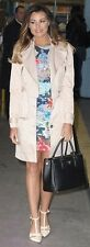 MICHELLE KEEGAN LIPSY SZ 16 CREAM BELTED ZIP COAT / MAC BNWT RRP £90 RARE FIND